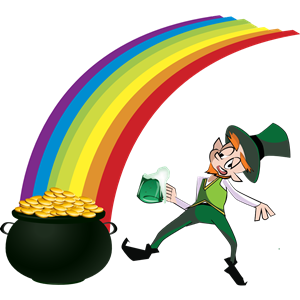 Leprechaun and Rainbow clipart, cliparts of Leprechaun and.