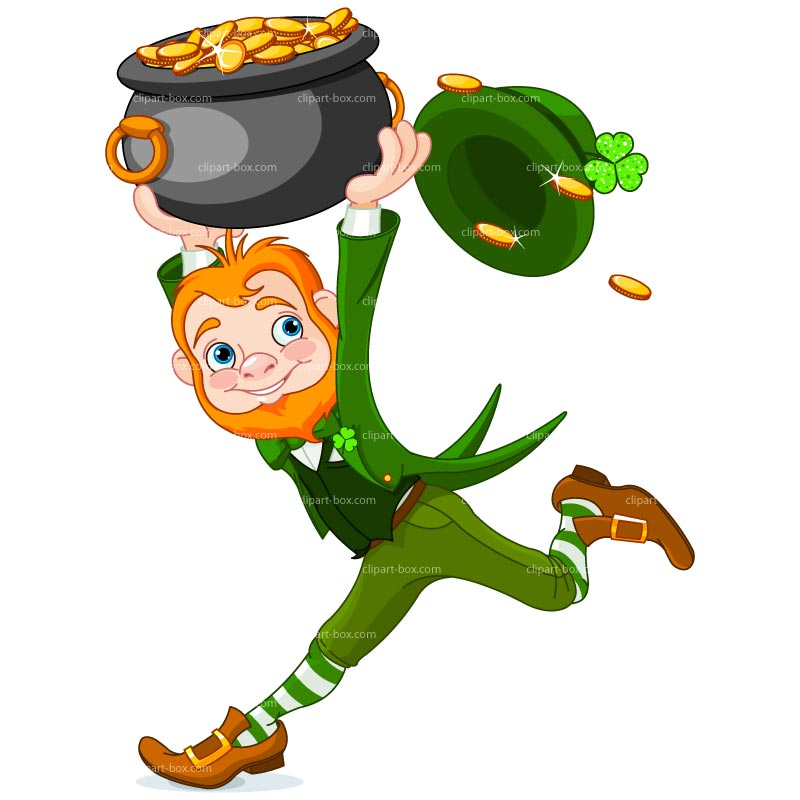 Dancing Leprechaun Clipart.