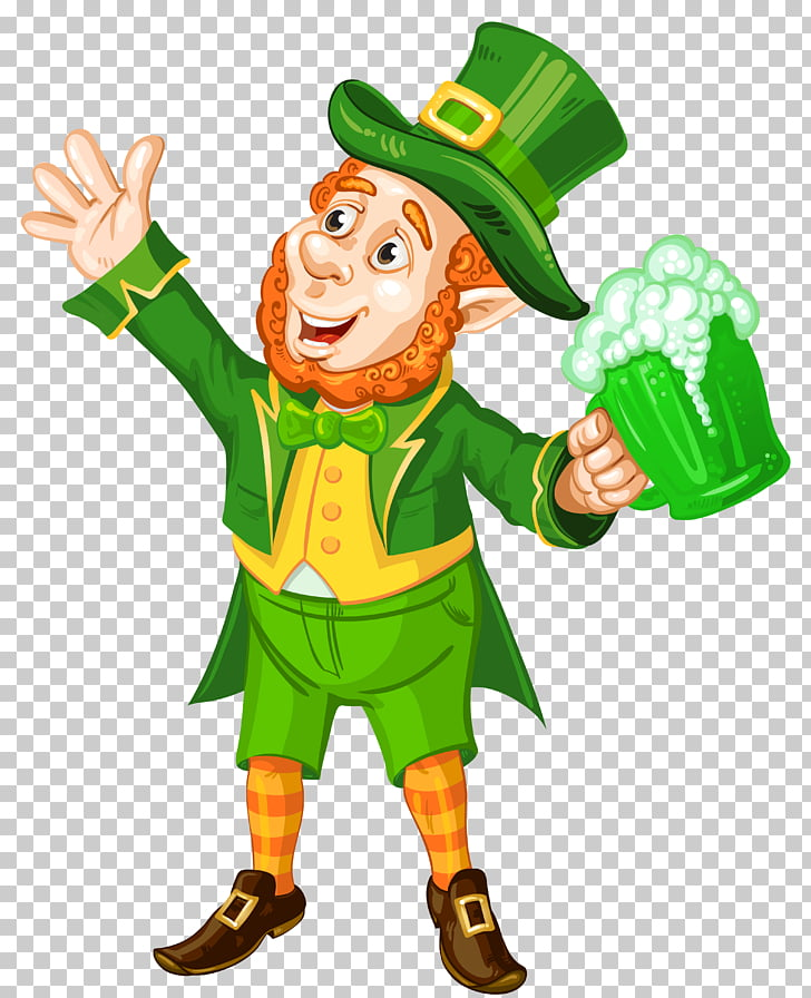 Saint Patrick\'s Day , St Patrick Day Leprechaun with Green.