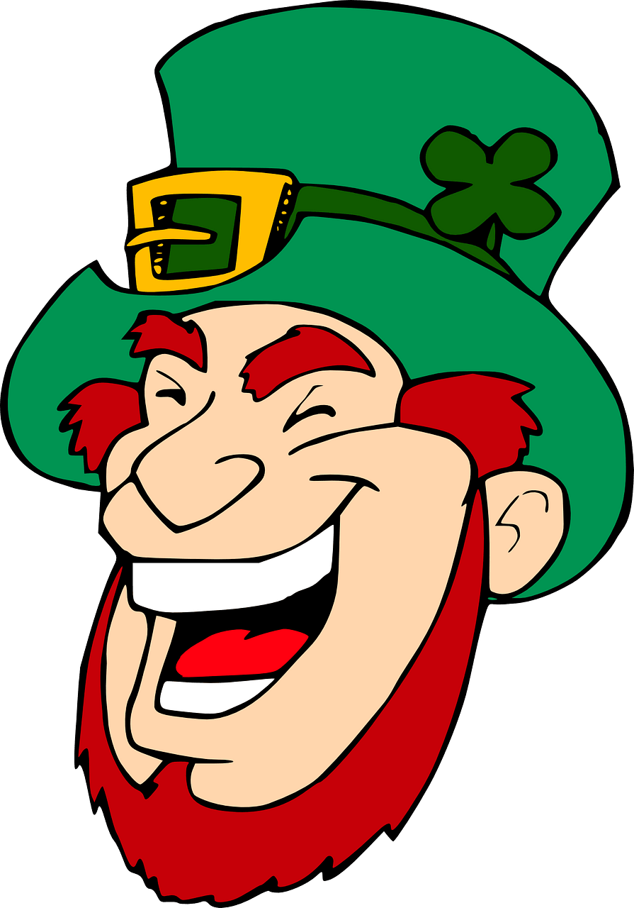 Laughing leprechaun clipart. Free download..