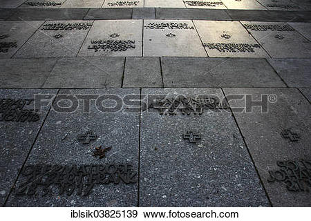 "Stock Photograph of ""Grave slabs with inscriptions of the names of."