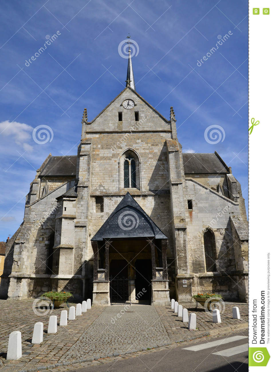 Church In The City Of Les Andelys In Normandie Editorial Image.