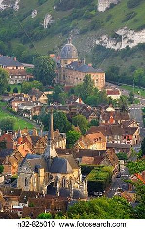 Stock Photography of Les Andelys Seine valley, Normandy, France.