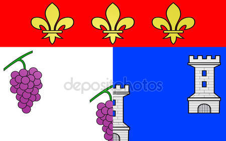 Flag of Andelys, France — Stock Photo © zloyel #108881838.