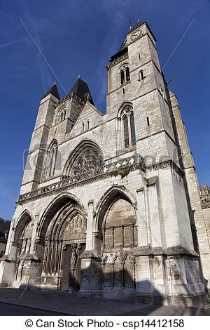Stock Images of Cathedral of Les Andelys, Haute Normandie, France.