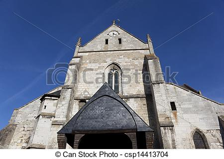 Photographies de Haute, Normandie, france, les, andelys, église.