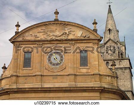 Stock Image of Switzerland, Europe, Vaud, Yverdon.