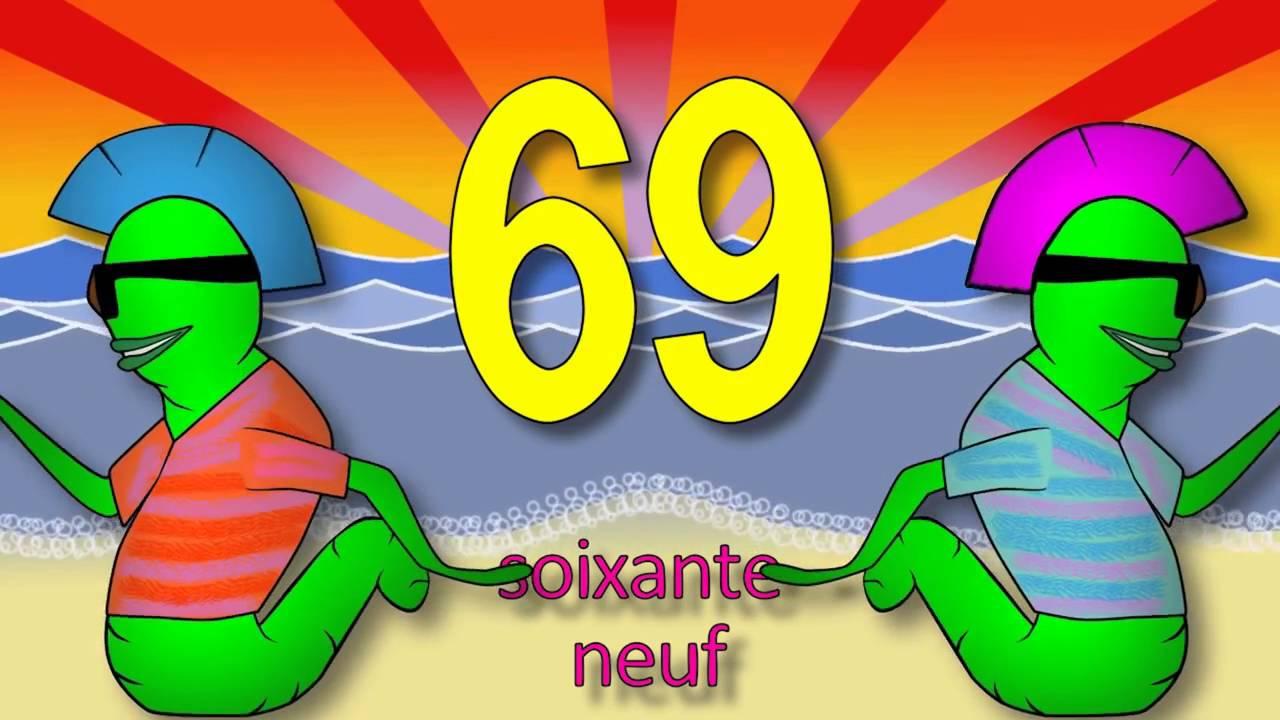 Les chiffres et les nombres de 50 à 70 alain le lait French.