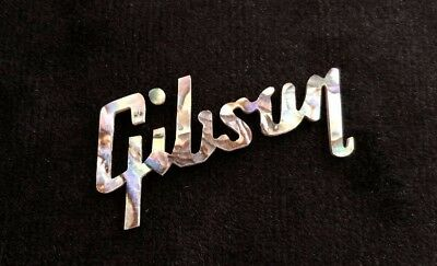 GIBSON LOGO MOTHER of Pearl Rainbow Headstock Les Paul.