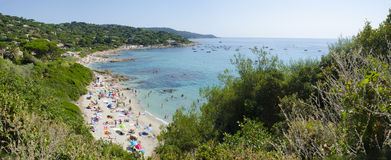 L´Escalet Beach On The French Riviera Stock Photos.