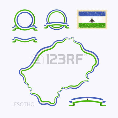 351 Map Of Lesotho Stock Vector Illustration And Royalty Free Map.