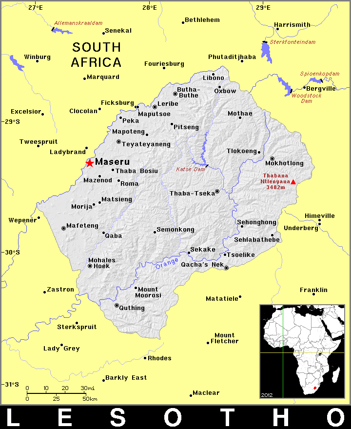 Lesotho clipart.