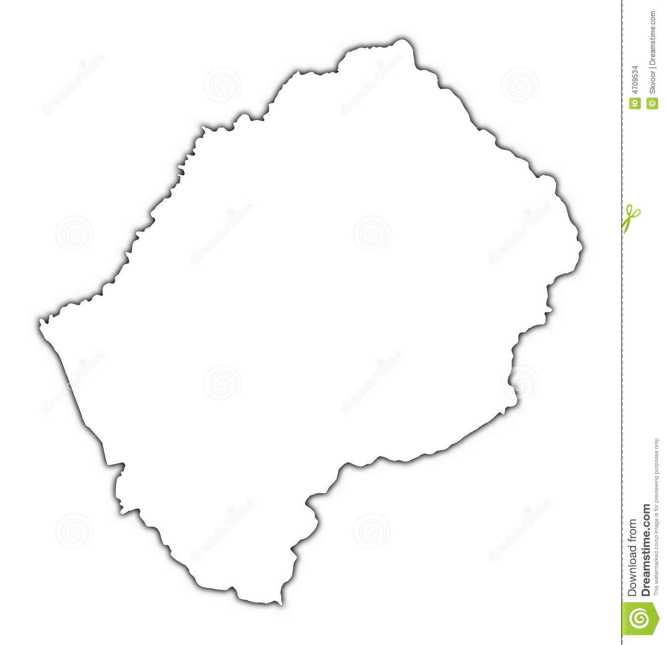 Lesotho map clipart.