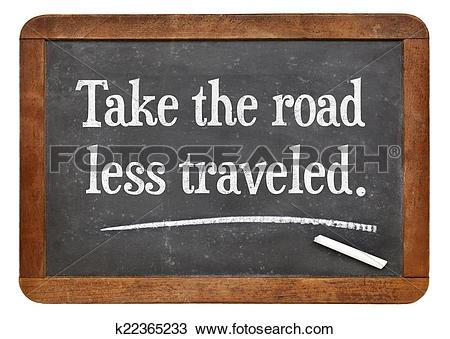 Stock Photo of take the road less traveled k22365233.