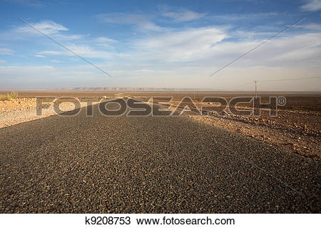 Stock Photo of The road less traveled in Morocco k9208753.