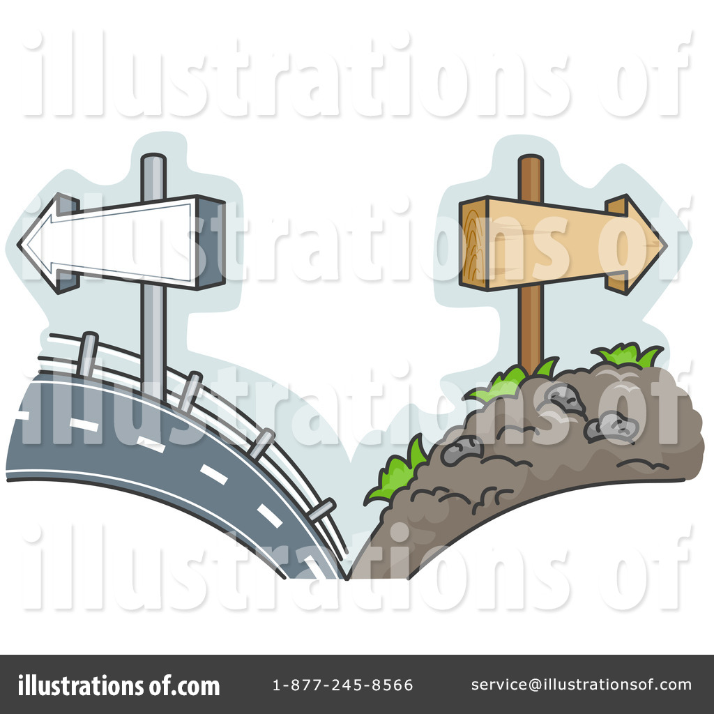 The road less traveled clipart.