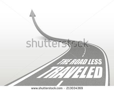 Road Less Travelled Stock Vectors & Vector Clip Art.
