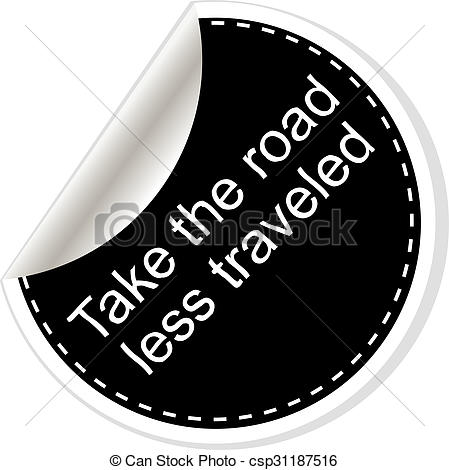 Clipart of Take the road less traveled. Inspirational motivational.