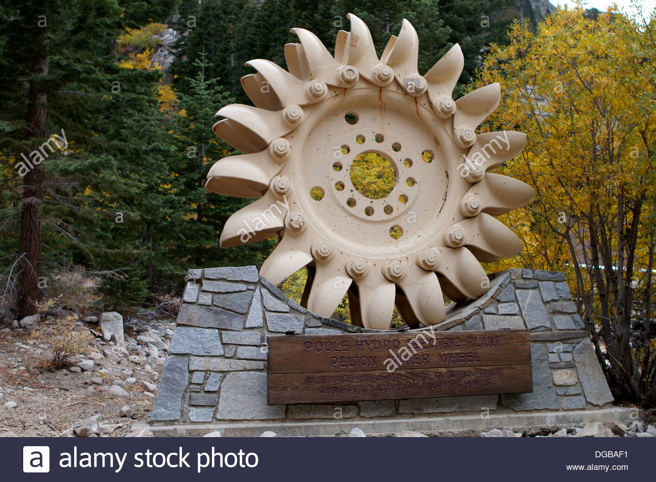 A Pelton Wheel A Water Impulse Turbine. Invented By Lester Allan.