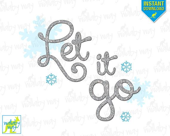 Let It Go Frozen Printable Iron On Transfer or Use as.