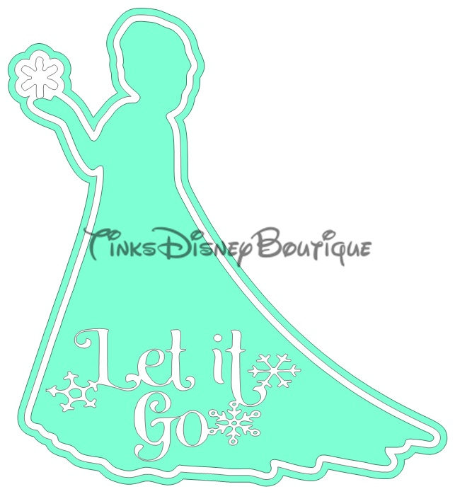 Disney SVG clipart Title Let it Go Frozen Elsa Disneyland Disney World  Scrapbook Cricut Silhouette Cut File.