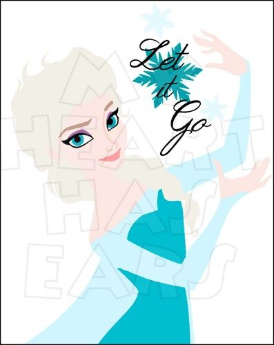 Printable iron on digital file Elsa Let it go.