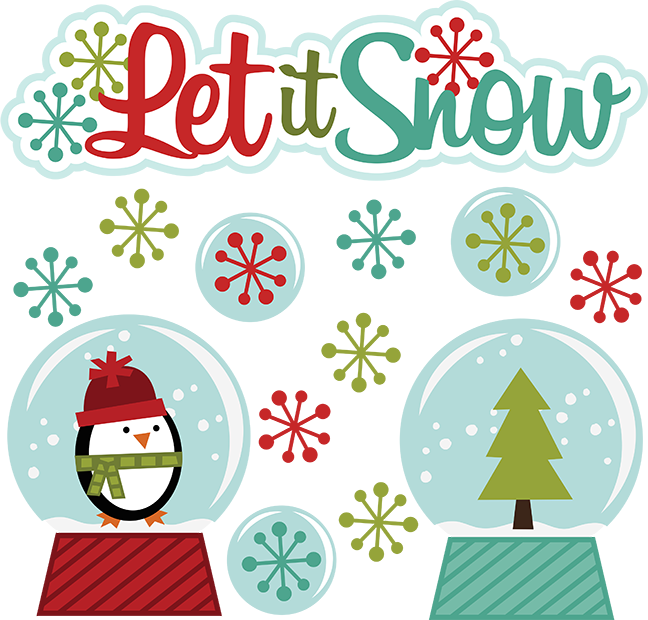 Let It Snow SVG winter clipart cut clip art free svg file.
