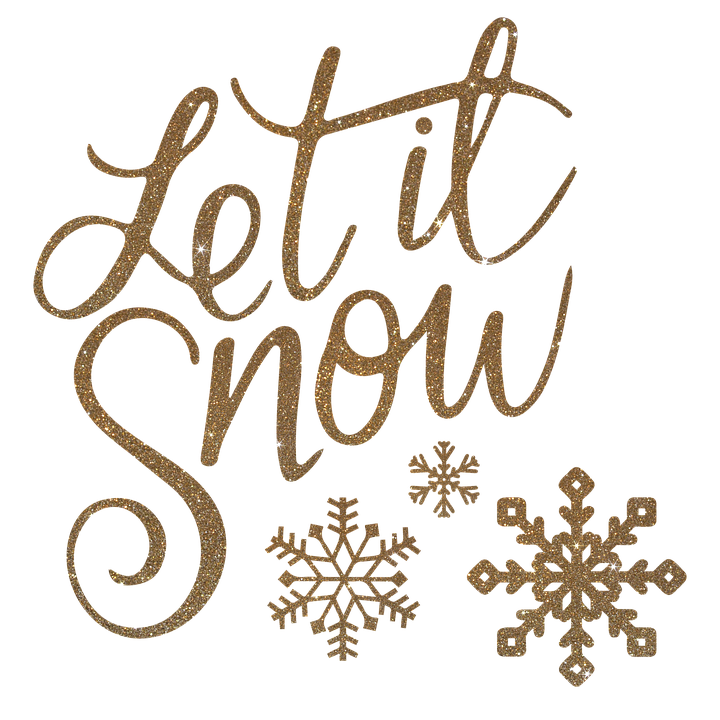 Let It Snow Christmas Merry.