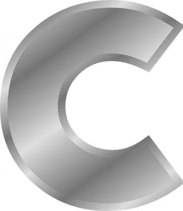 Effect Letters Alphabet Silver C clip art Clipart Graphic.