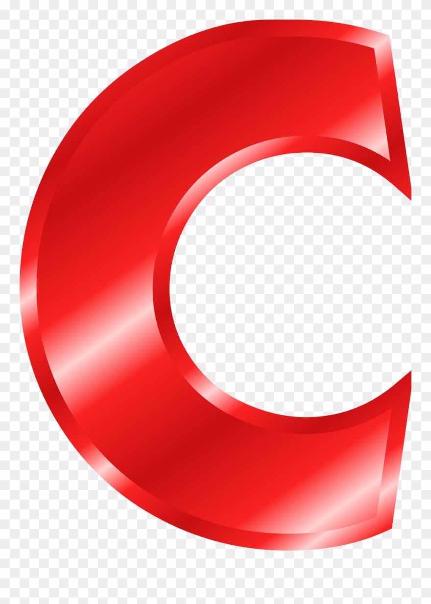 Letra C Vermelha Png Clipart (#101685).