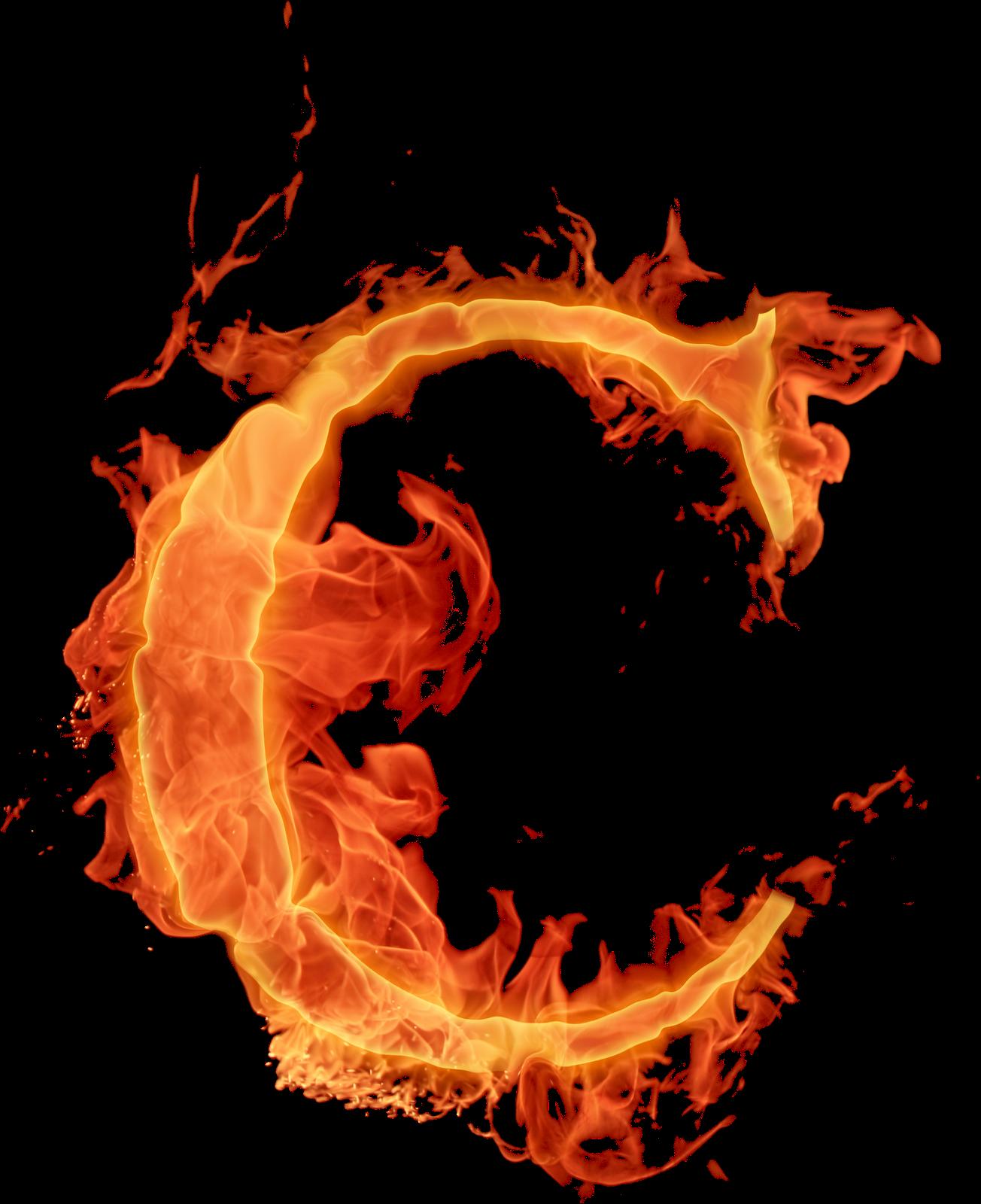 Letras em png efeito fogo.