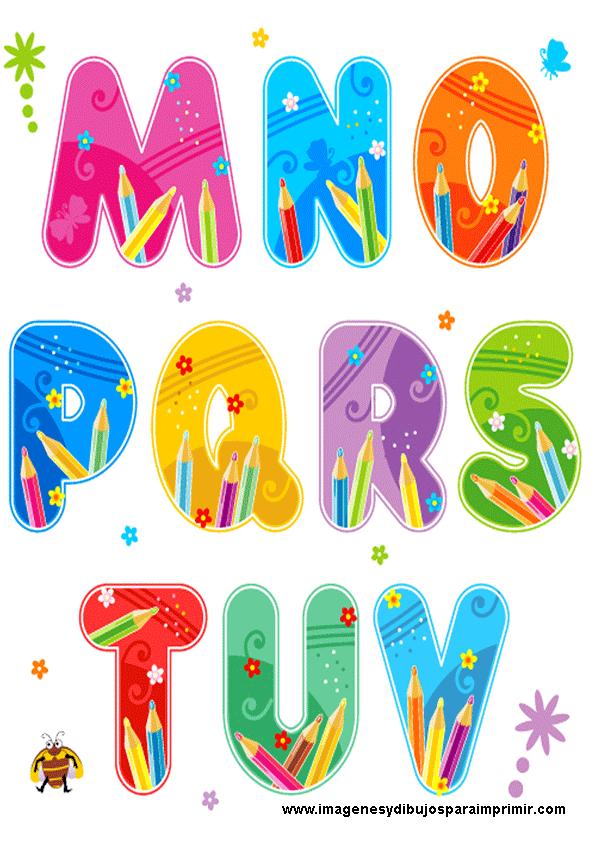 Moderno Letras De Color Imprimibles Molde - Dibujos Para Colorear En ...