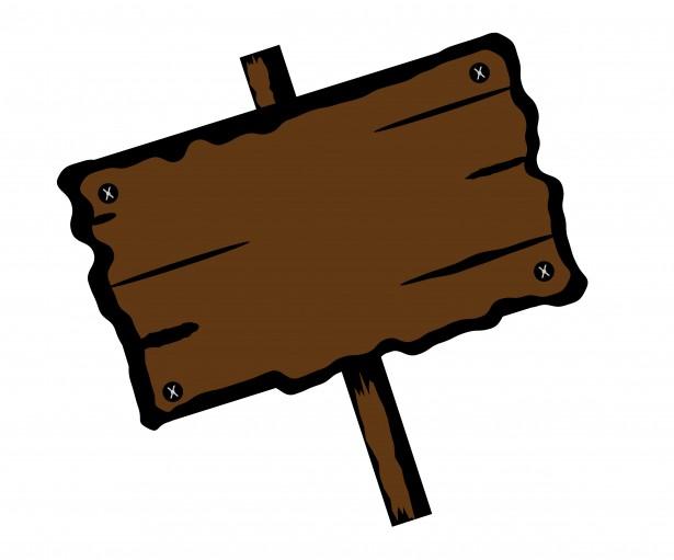 Letrero de madera clipart Stock de Foto gratis.