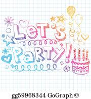 Lets Party Clip Art.