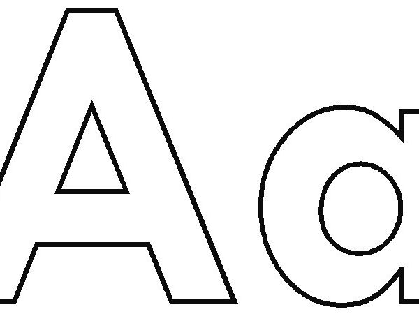 Letter Aa Clipart Black And White.