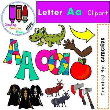 Letter Aa Digital Clipart.