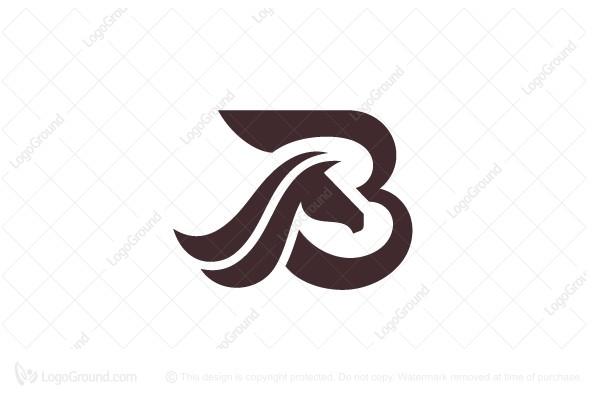 Exclusive Logo 184637, Letter B Logo Horse Logo.