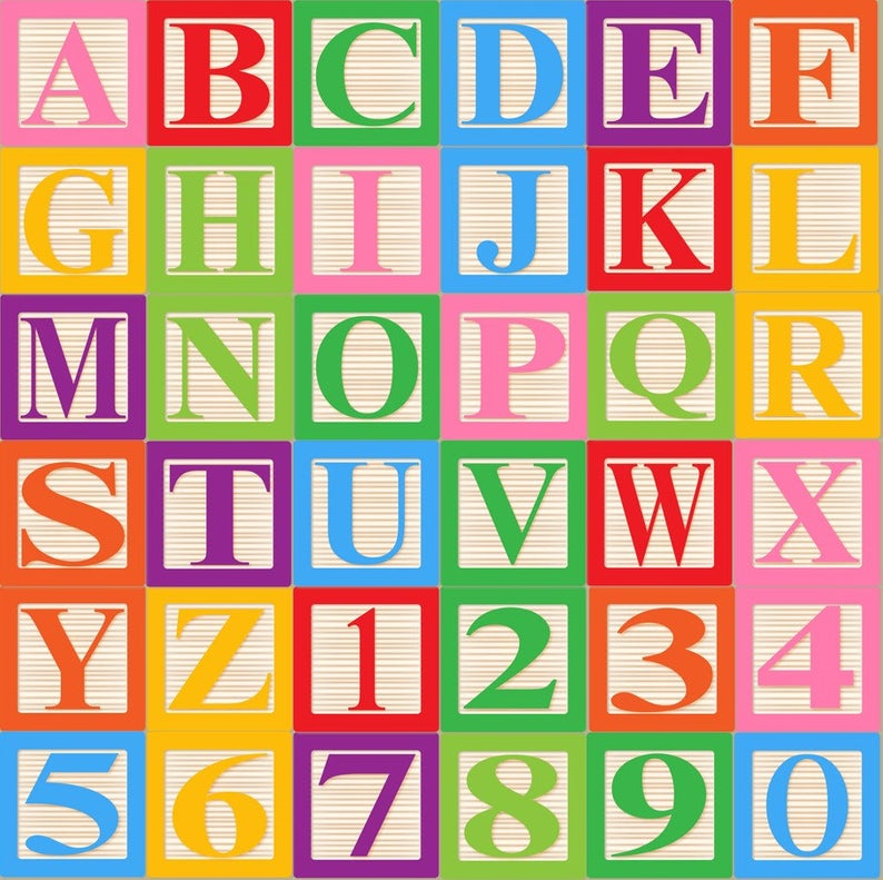 Baby Blocks Alphabet Font Clip Art Clipart.