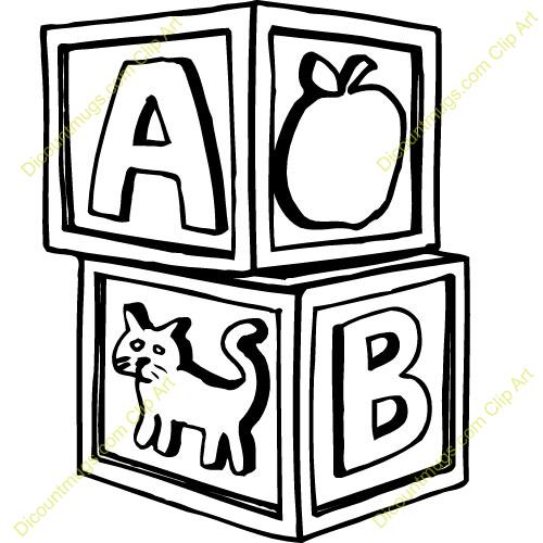 Abc blocks free clipart.