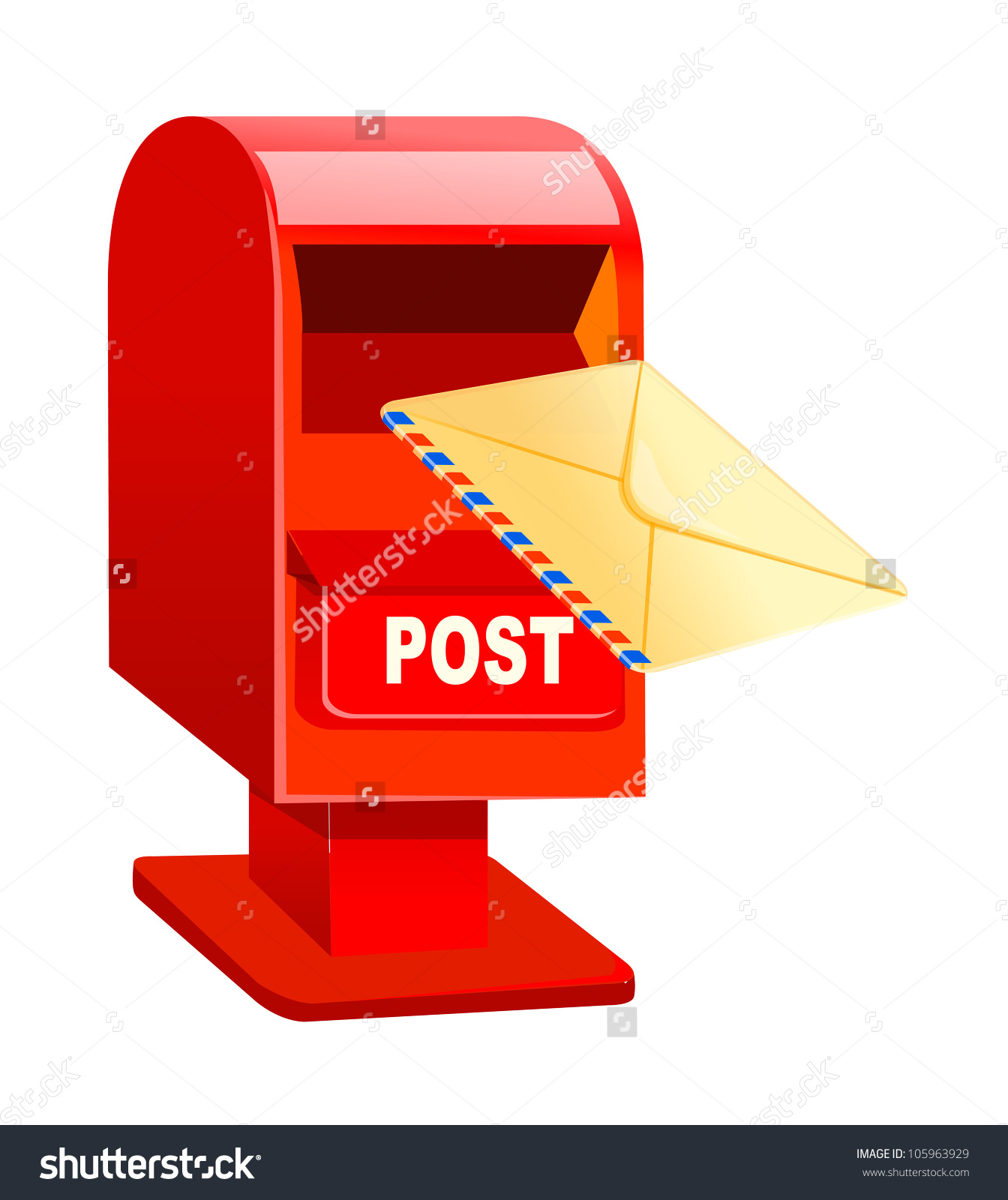 Indian post box clipart.