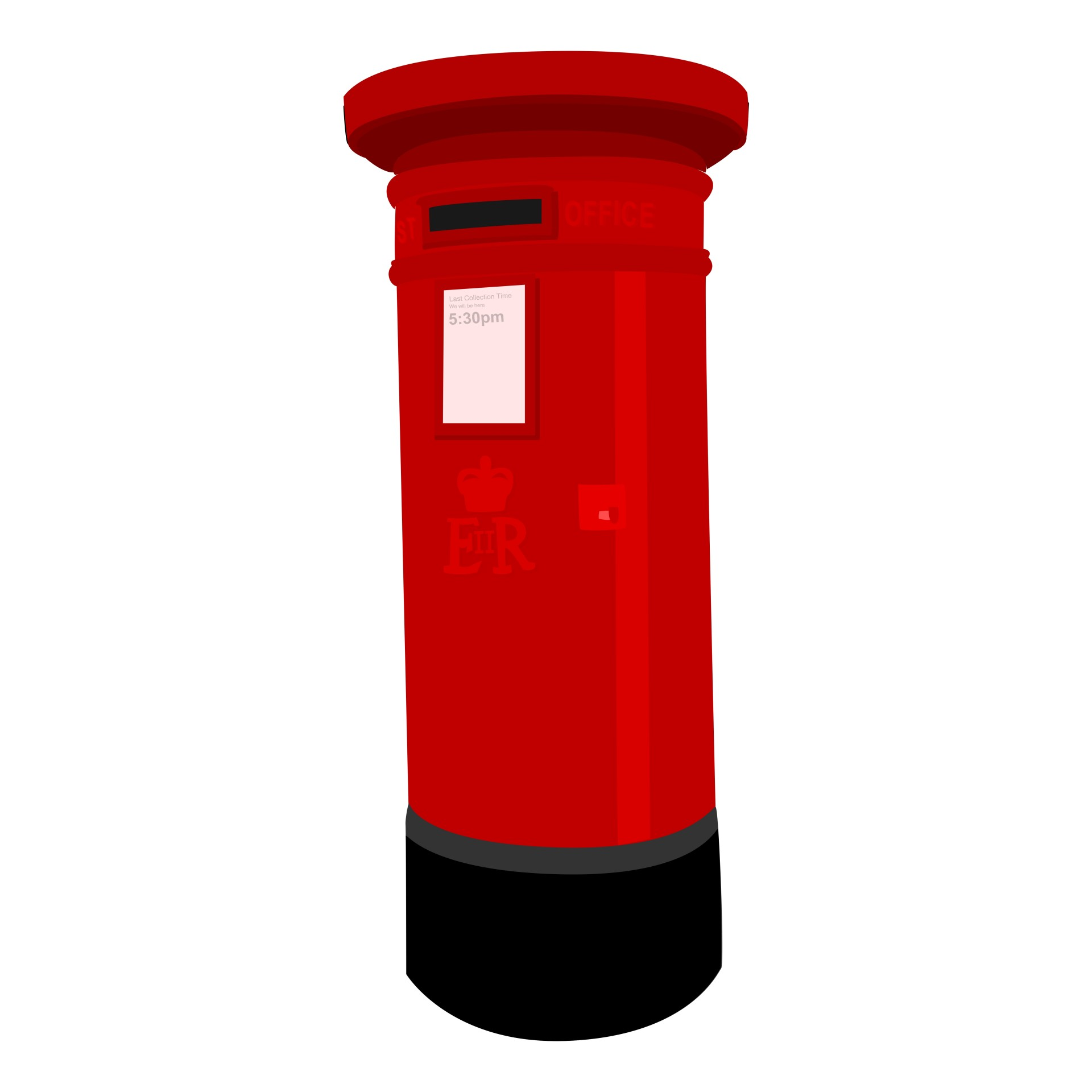 Red post box clipart.