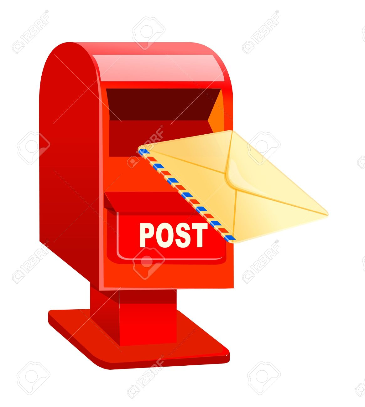 Free post box clipart.