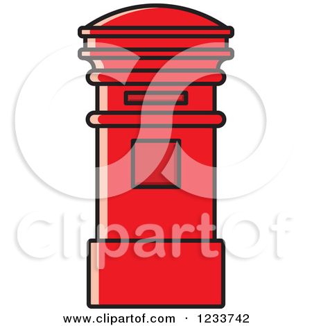 Clipart of a Red Post Box.
