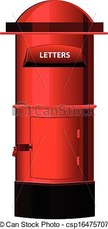 Vector Clipart of Post Box or letter box Vector csp16475707.