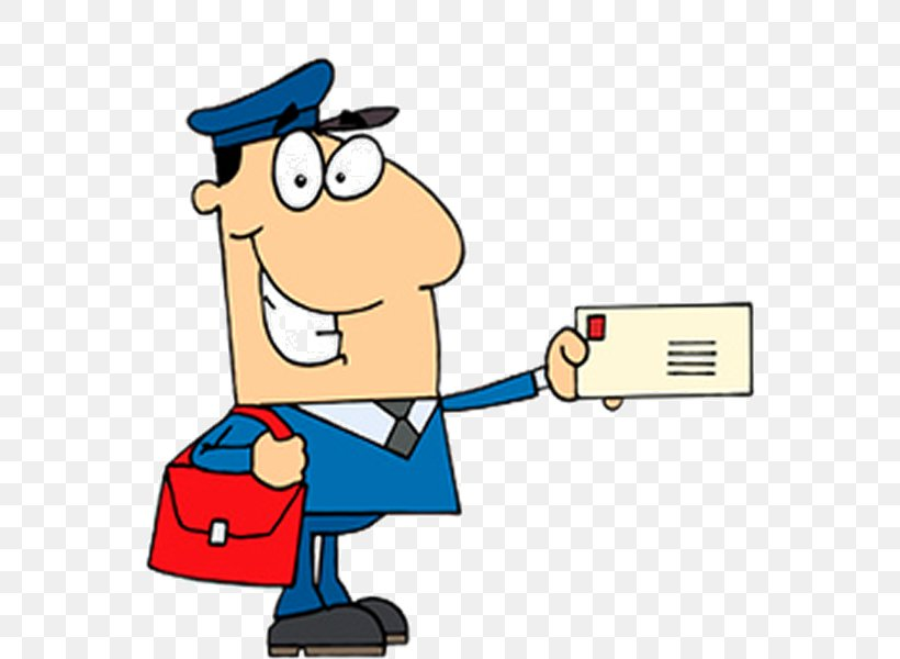 Clip Art Illustration Mail Carrier Vector Graphics Image.