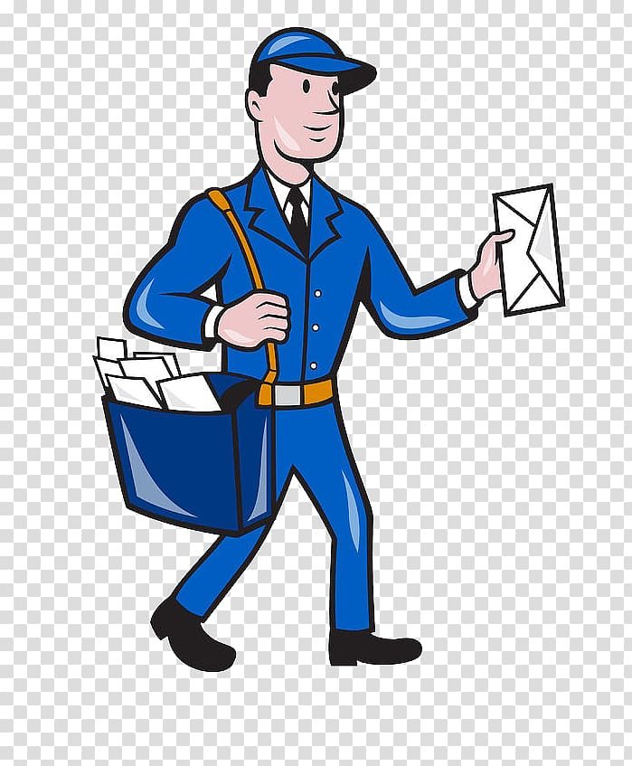 Mail carrier Cartoon , others transparent background PNG.