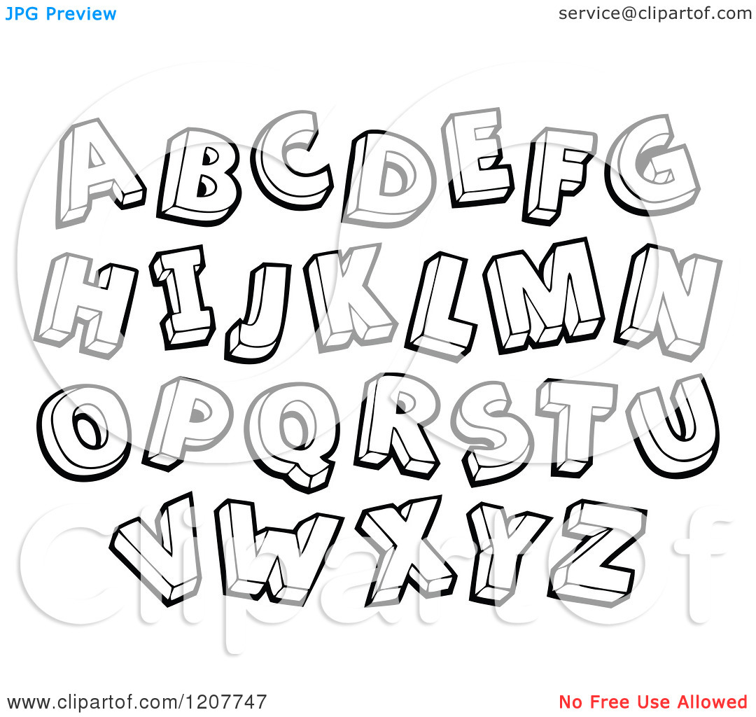 Letters Clipart Black And White (95+ images in Collection.