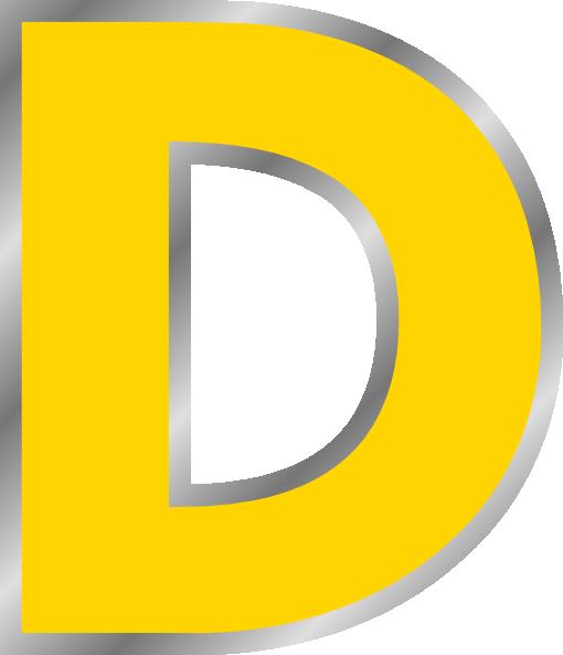 Clipart Of Letter D.