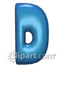 Bubble Letter D.