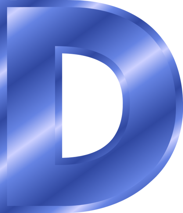 letter d blue clipart - Clipground